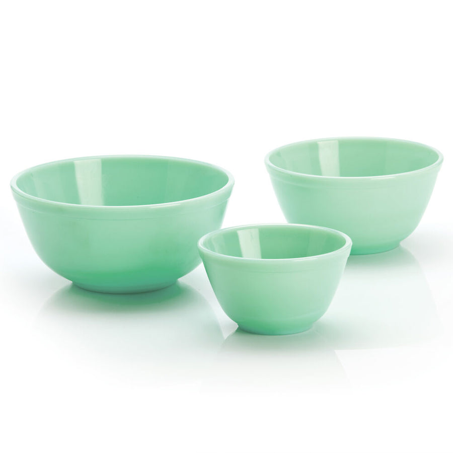 Mixing & Serving Bowls, Jade Green