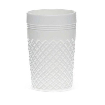 Etched Glass Tumbler, White