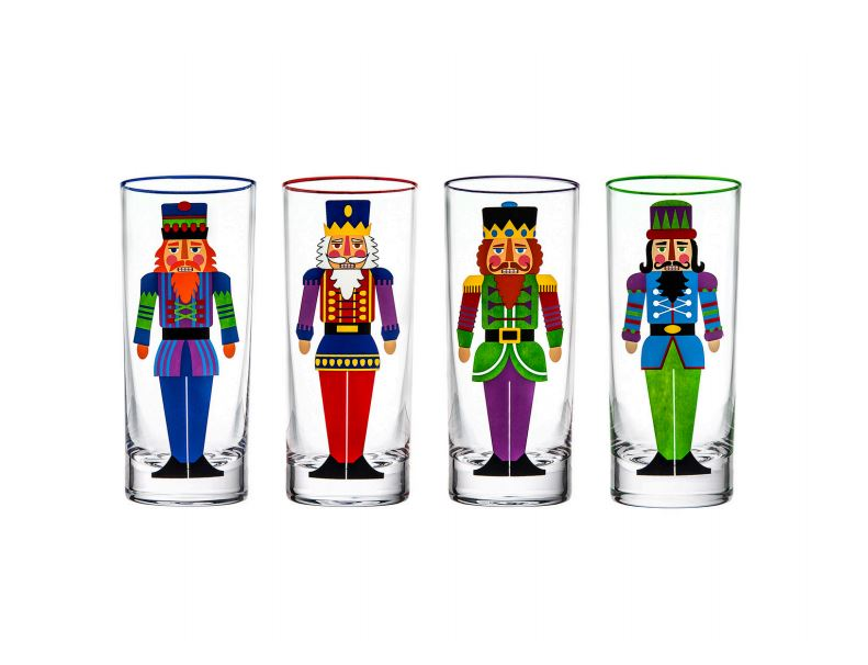 Festive Nutcracker Shot Glasses (Set of 4)