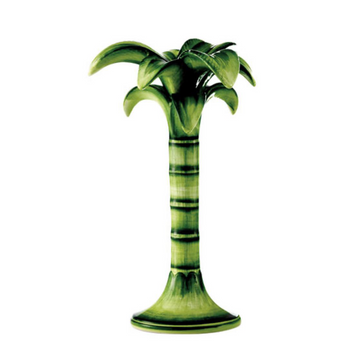 Palm Tree Candle Holder, Green