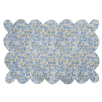 Scallop Placemat, Poppy & Daisy Blue