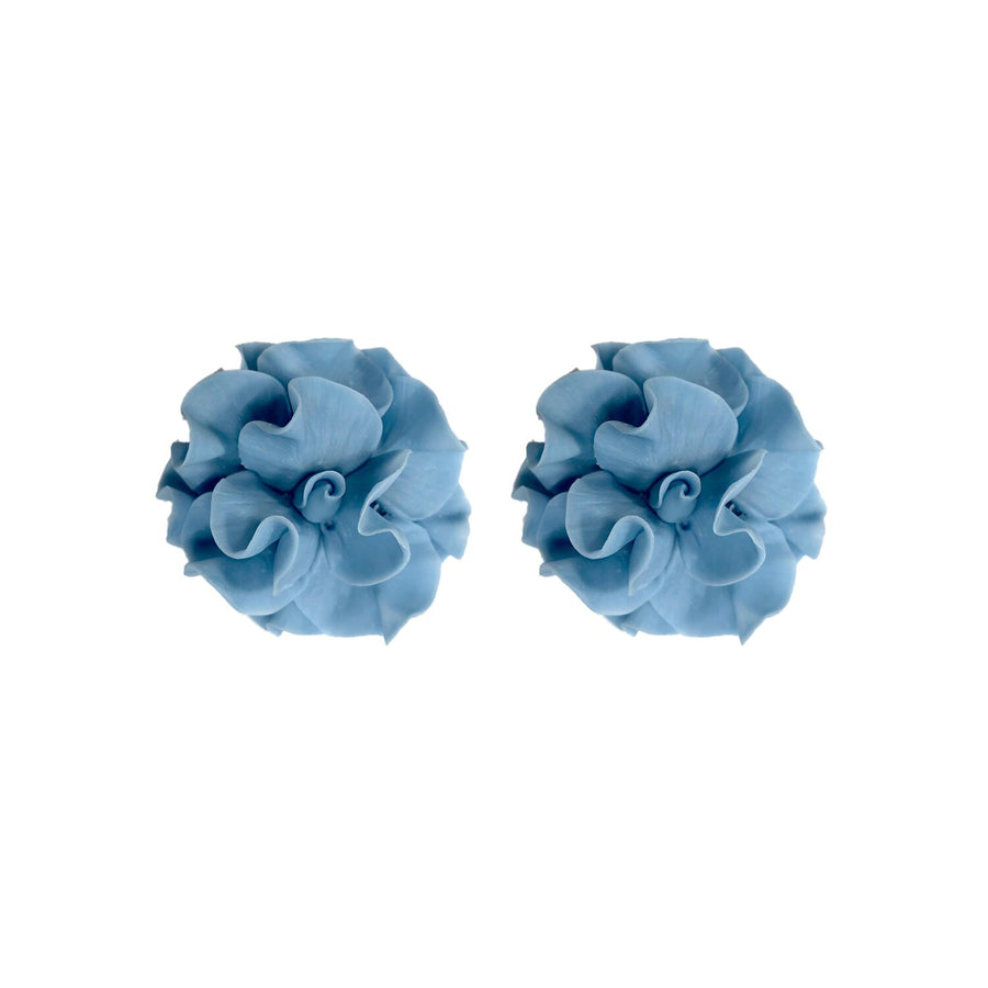 Small Flower Stud, Stone Blue