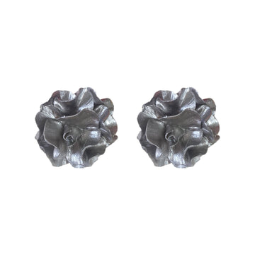 Small Flower Stud, Silver
