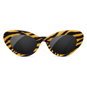 Tiger Round Stripe Sunglasses