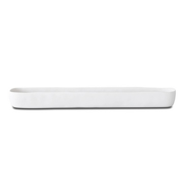 Long Trough Tray, White