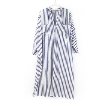 Stripe Two Pocket Caftan, Blue