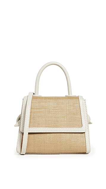 Bee Mini Bag, Raffia x Ivory