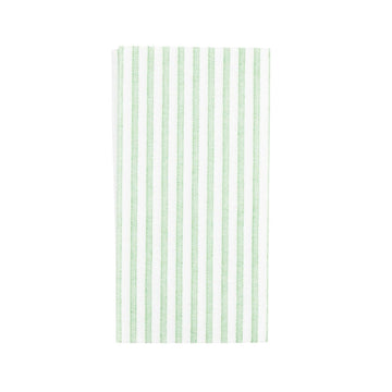 Stripe Guest Towels, Green x White