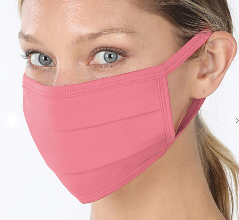 Mask from essential set Washable soft cotton lining mask, very comfortable Cotton, Spandex. Detroit online womens boutique. blush pink/rose