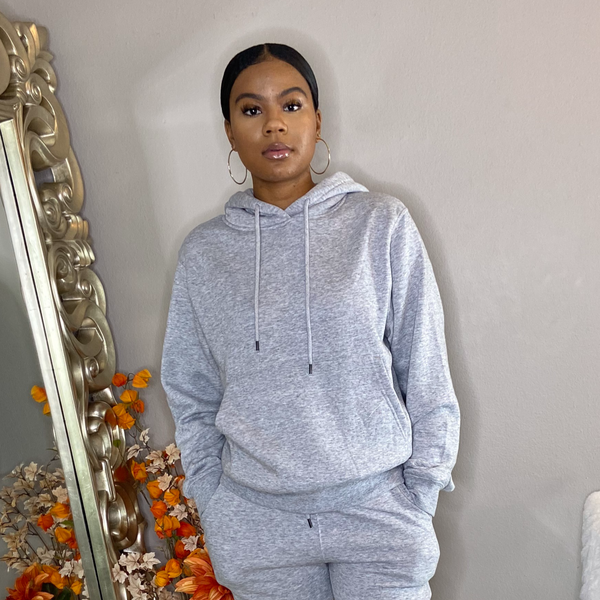 classic pullover hoodie with kangaroo pouch pocket grey unisex detroit online womens boutique boyfriend fit oversized