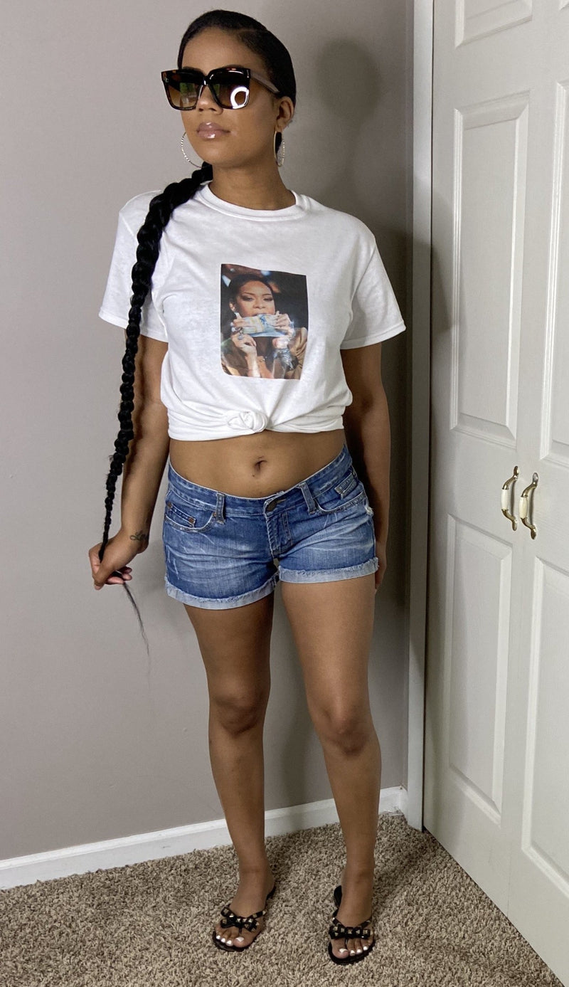 Rihanna Have My Money Video Graphic Shirt Unisex White edgy street style detroit online womens boutique