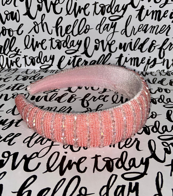 light pink Elegant jewel headband one size fit all