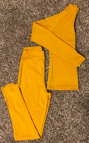 Womens Tracksuits jogger sets Mustard Yellow fitted