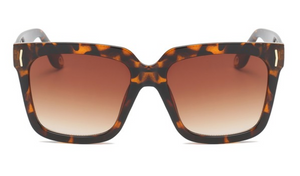 brown cheetah/ leopard square womens sunglasses under. Cheap Dupe Design sunglasses for womens  $20. animal print.
