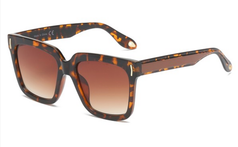 brown cheetah/ leopard square womens sunglasses under. Cheap Dupe Design sunglasses for womens  $20. animal print