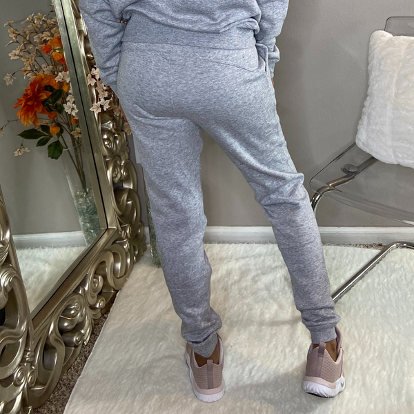 classic jogger pants grey with side pockets unisex detroit online womens boutique
