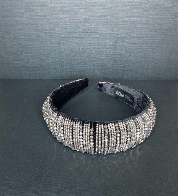 silver black Elegant jewel headband one size fit all