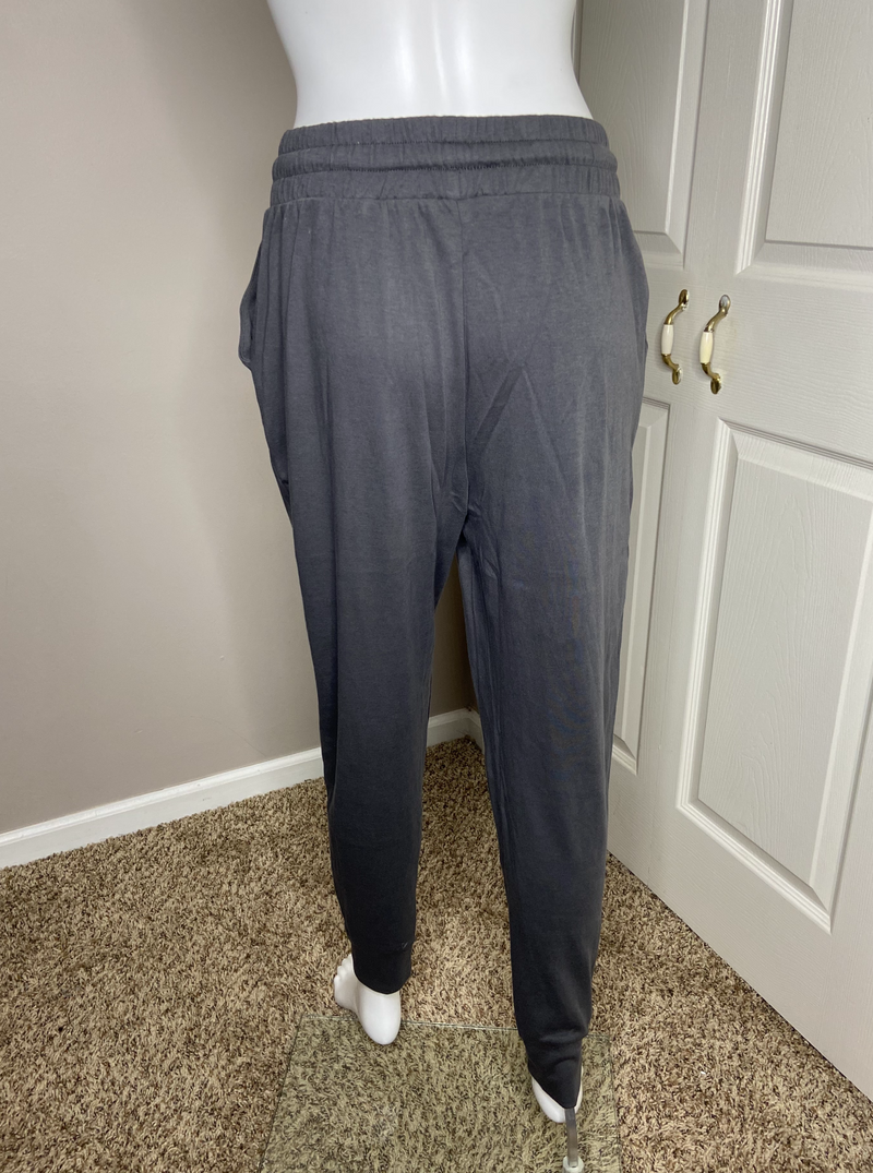 drawstring jogger pants dark ash grey gray cotton online detroit womens boutique