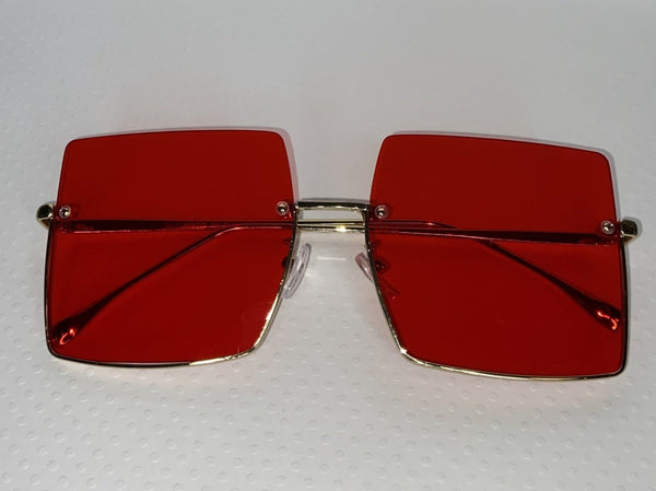 Hollywood Blvd Sunglasses Red