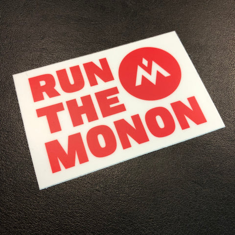 Run The Monon Sticker - Red