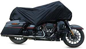 XL Black+Blue Motorcycle Waterproof UV Protective Breathable Cover Outdoor