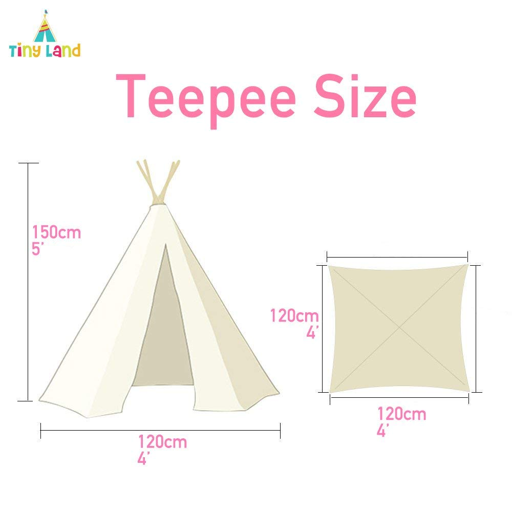 new style 4d363 6e7a4 Sumbababy Land Kids Teepee Tent Children Play Tent with Mat ...