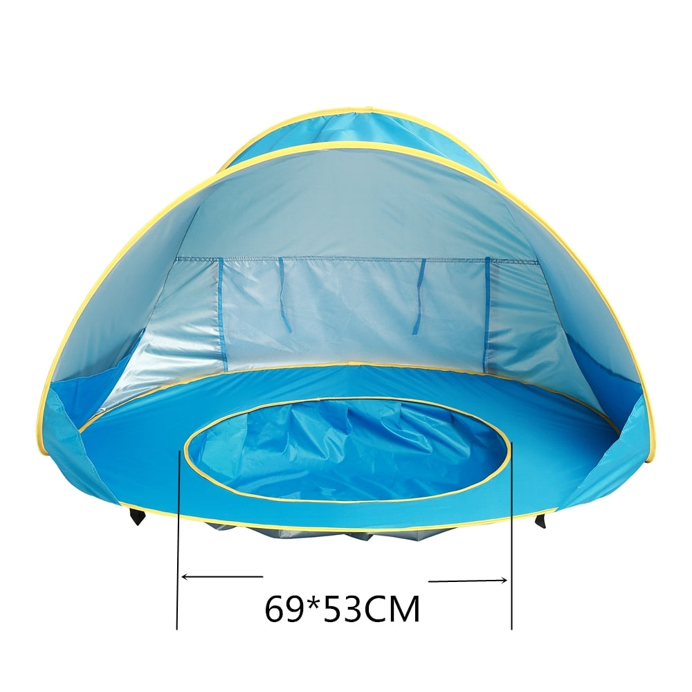 new product 26908 19ff5 Sumababy Baby Beach Tent UV-protecting Sunshelter with Pool Waterproof Pop  Up Awning Tent Kids Outdoor Camping Sunshade Beach Tent