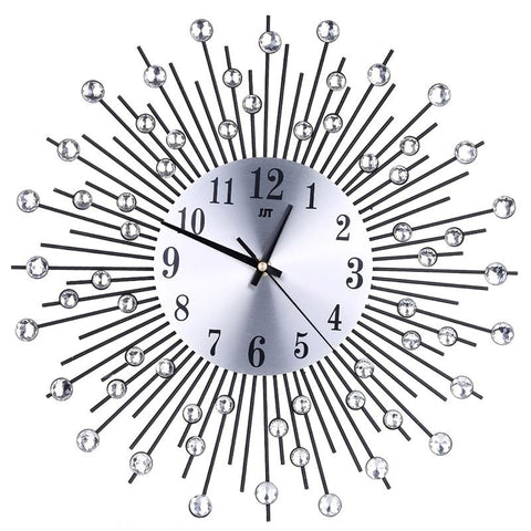 3D Wall Clock Diamonds Decorative Clock Wall Clock Living Room Decor ...