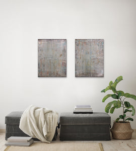 """Penthouse Concrete"", Acrylic on Canvas, 40x24, Diptych"