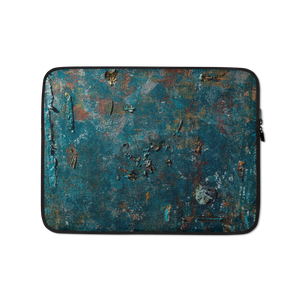 """Fragment of a Rusted Interior Magnified"" Laptop Sleeve"