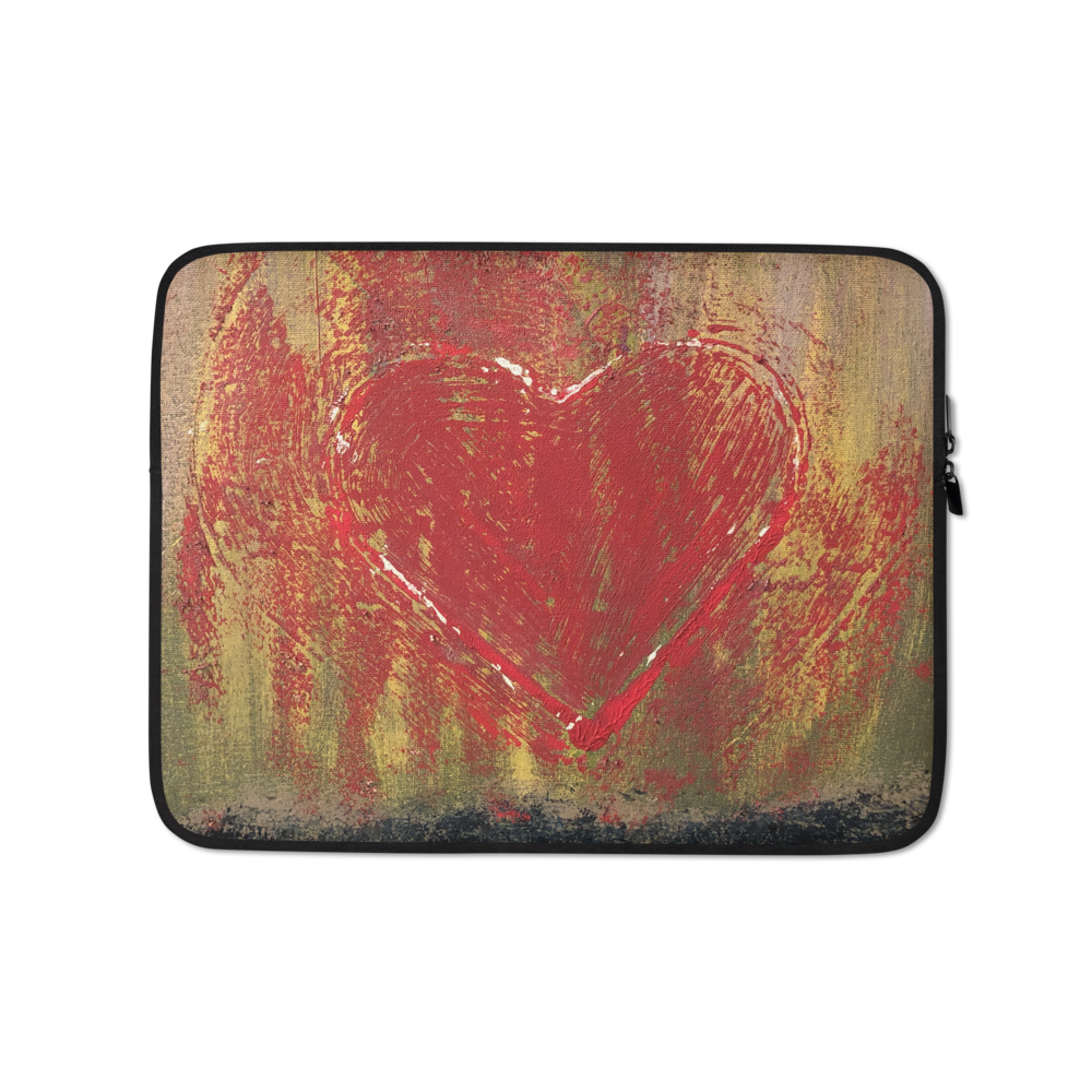 """Resonating Heart"" Laptop Sleeve"