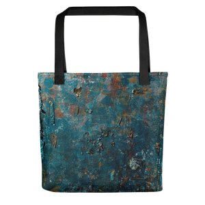 """Fragment of a Rusted Interior Magnified"" Tote Bag"