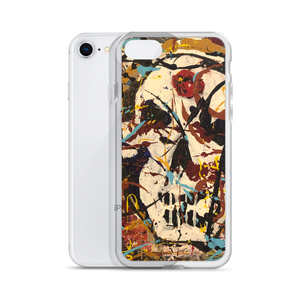 """Silhouette of a Calm Cannibal Just Beneath"" Liquid Glitter iPhone Case"