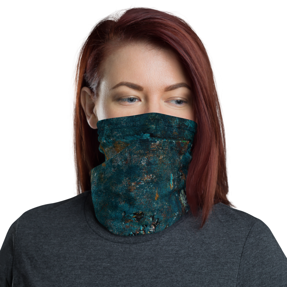 """Fragment of a Rusted Interior Magnified"" Neck Gaiter Face Mask"