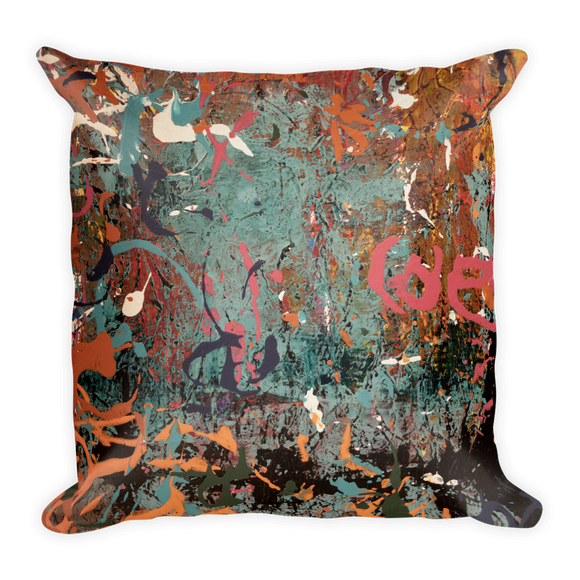 """Decomposed Chaos in Development"" Pillow"