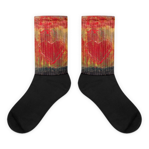 """Resonating Heart"" Socks"
