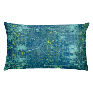 """Aerial View of an Emerald Seascape"" Pillow"