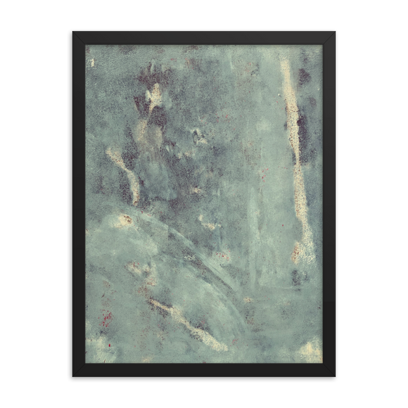 """Blue Concrete Abstract #1"" Framed Poster"