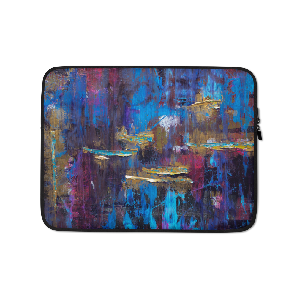 """Disjointed Brushstrokes Rearranged"" Laptop Sleeve"