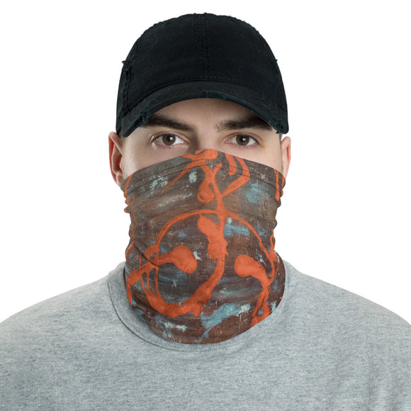 """Superficial Impression of Curvaceous Motion"" Neck Gaiter Face Mask"