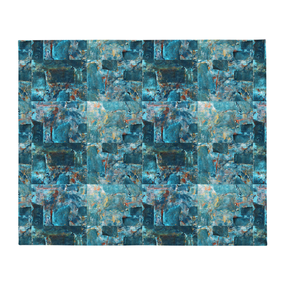 """Emerald Coast of a Fractional Future"" Throw Blanket"