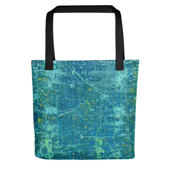 """Aerial View of an Emerald Seascape"" Tote Bag"