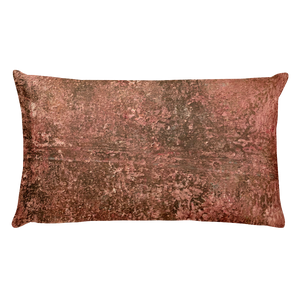 """Red Concrete Abstract"" Pillow"