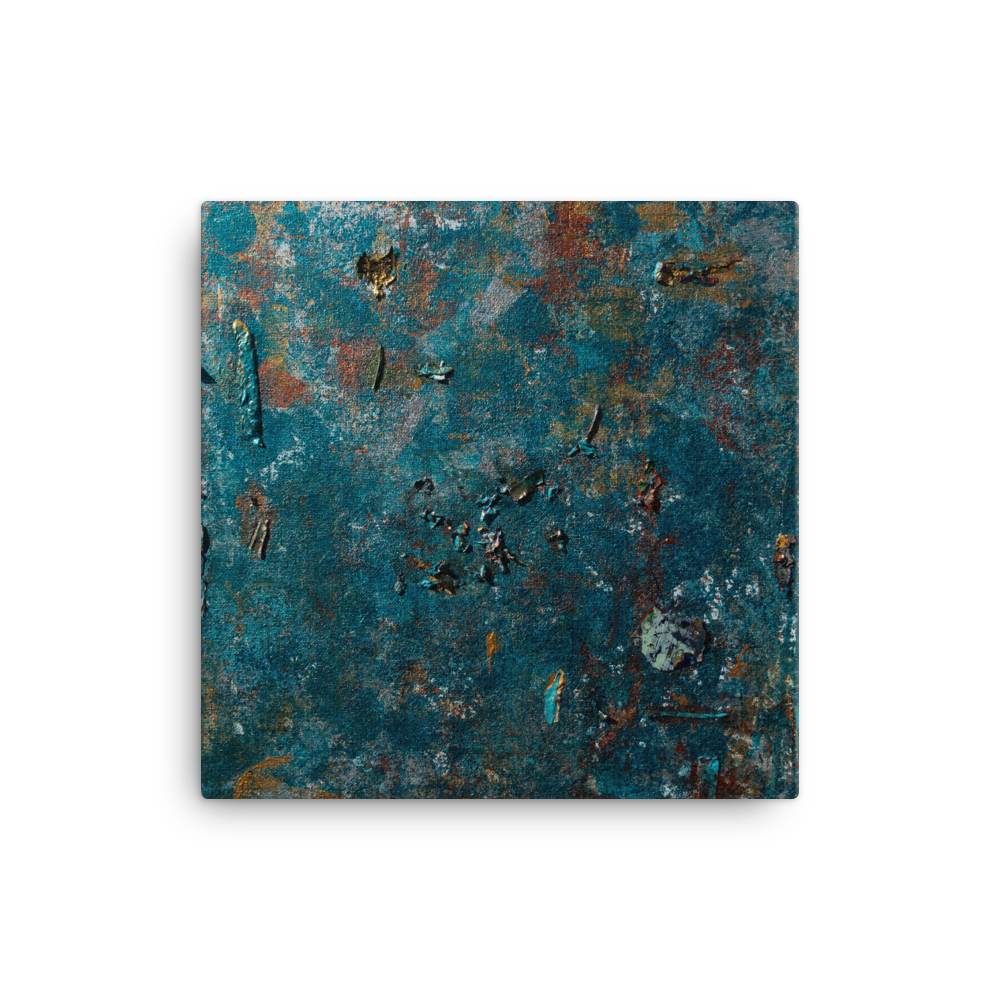"""Fragment of a Rusted Interior Magnified"" Canvas Print"