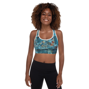 """Emerald Coast of a Fractional Future"" Padded Sports Bra"
