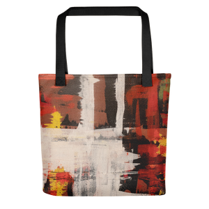 """Harlequin with a Glass Flattened by Gravity"" Tote Bag"