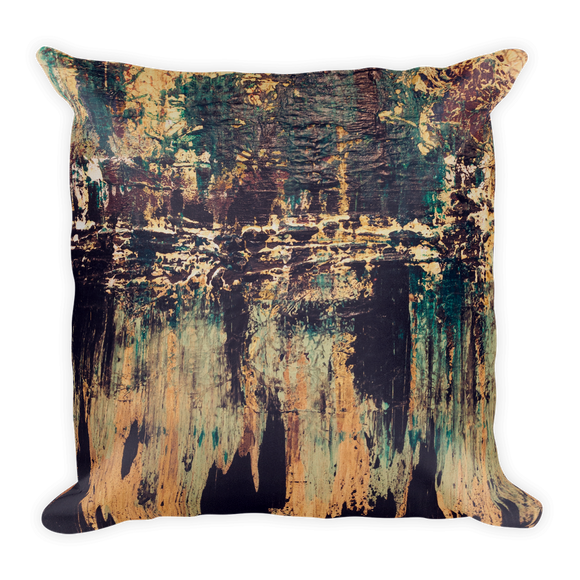 """Silhouette of a Rising Expression"" Pillow"