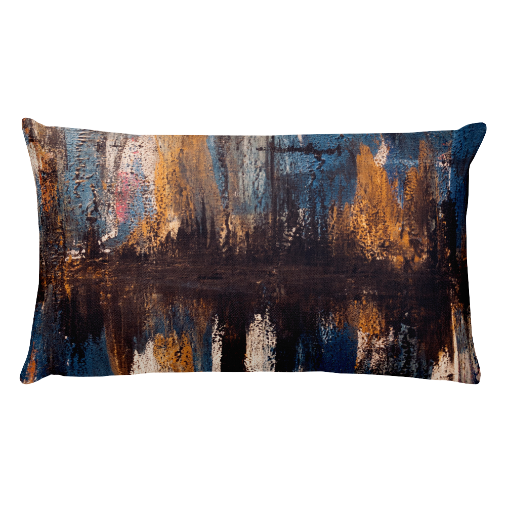 """Waveform of a Dreary Echo"" Pillow"