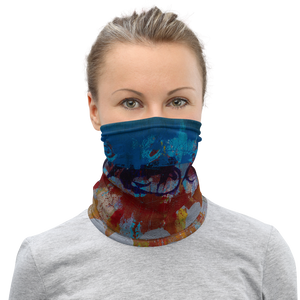 """Shimmering Motion Fractionated"" Neck Gaiter Face Mask"