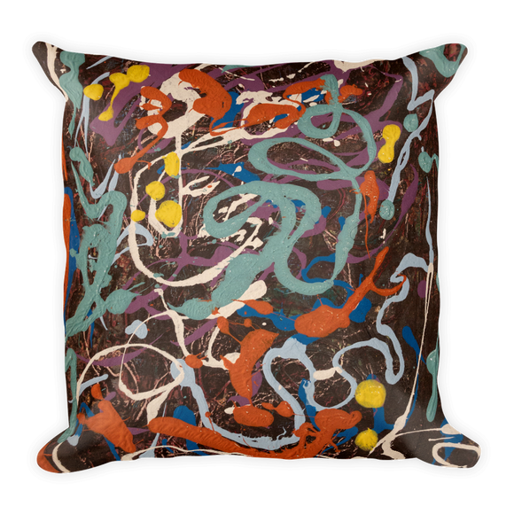 """Variation of Curvaceous Movement"" Pillow"